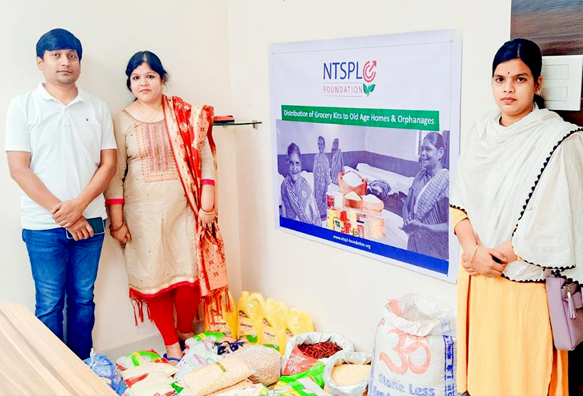 NTSPL Foundation Supported One-month Grocery Kits to Asha...